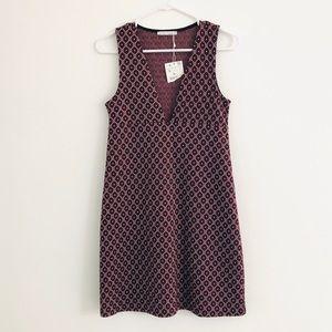 Zara Red Geometric A Line Dress Small